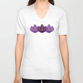 Crocus Flower Unisex V-Neck