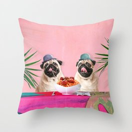 Spughetti Throw Pillow