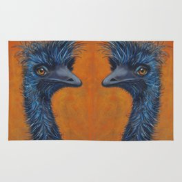 Emu Face Off 1 Rug