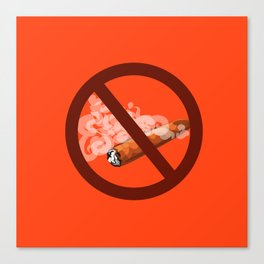 antitobacco, prohibition to smoke cigars Canvas Print