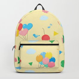 Balloons and Rainbows Pattern Backpack