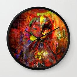 Queen of Bleeding Hearts Wall Clock