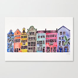 Rainbow Row – Charleston Canvas Print