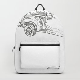 Vintage Pickup Truck Doodle Art Backpack