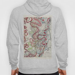 Vintage Map of the Mississippi River Hoody