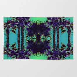 Hawaiian Neon Summer Nights Rug