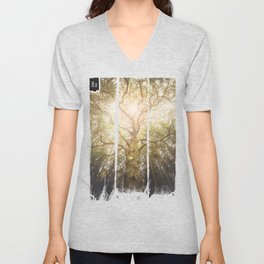 I found a tree in the forest Unisex V-Neck
