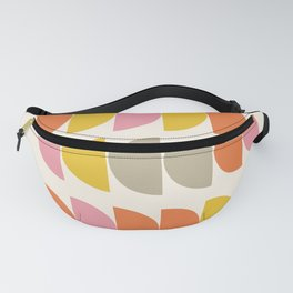 Cute Geometric Shapes Pattern in Pink Orange and Yellow Fanny Pack