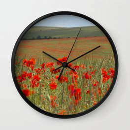 Poppy Field Wall Clock