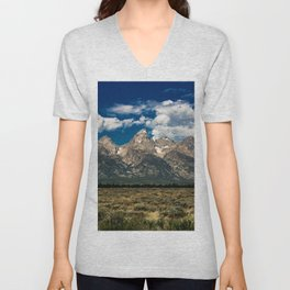 The Grand Tetons - Summer Mountains Unisex V-Neck