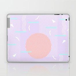 Memphis Summer Lavender Waves Laptop & iPad Skin