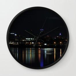 Kansas City at Night Wall Clock