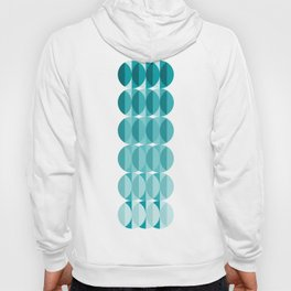 Leaves in the moonlight - a pattern in teal Hoody