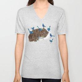 Wrens Wombat sleep Unisex V-Neck