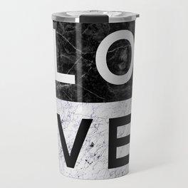 Love B&W Travel Mug