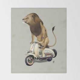 Lamb (Colour) Throw Blanket
