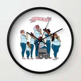 Intersectional Rosie the Riveter Wall Clock