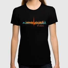 Dubai, emirates, City Cityscape Skyline watercolor art v2 T-shirt