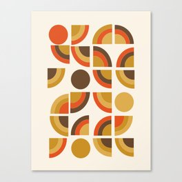 Kosher - retro throwback minimalist 70s abstract 1970s style trend Canvas Print
