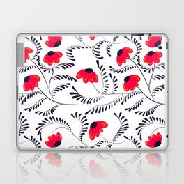 Beauty simple seamless floral pattern swirl Laptop & iPad Skin
