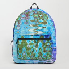 Charming Distractions, Abstract Art Waves Backpack