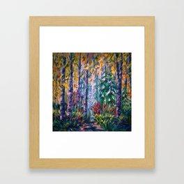 Deep in the Woods Framed Art Print