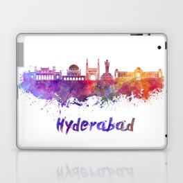 Hyderabad skyline in watercolor Laptop & iPad Skin