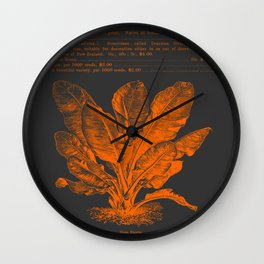 Banana Plant Illustration Wall Clock