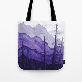 Tonal Mountain Study 2 Purple Tote Bag