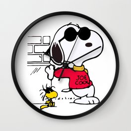 Joe Cool Snoopy Wall Clock