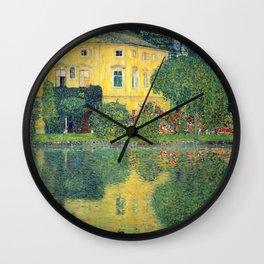 """Gustav Klimt """"Schloss Kammer on the Attersee IV"""" Wall Clock"""