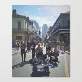 French Quarter Buskin' Canvas Print
