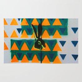Triangle Rabbit Street Art Rug