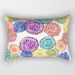 Dancing Dahlias Rectangular Pillow