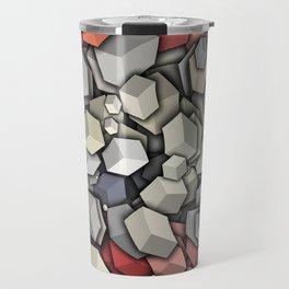 Chaotic 3D Cubes Travel Mug