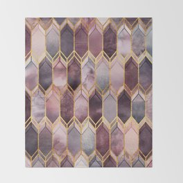Dreamy Stained Glass 1 Throw Blanket