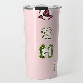 Oh Sehun Floral Typography Travel Mug