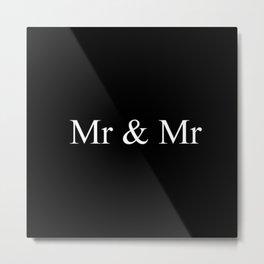 Mr & Mr Monogram Simple Metal Print