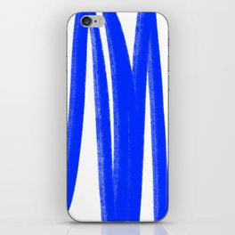 Yummy blue lines iPhone Skin