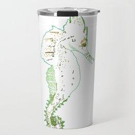 Green seahorse Travel Mug