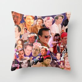 Buscemi Collage Throw Pillow