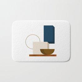 Abstrato 01 // Abstract Geometry Minimalist Illustration Bath Mat