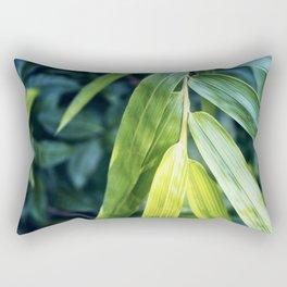 Bamboo Leaf Zen Poster Rectangular Pillow