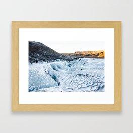 Glacierscape Framed Art Print