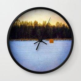 Ice Fishing Shanty Wall Clock