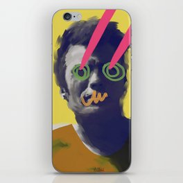 Masculine Clinton, POP art style, digitally painted iPhone Skin