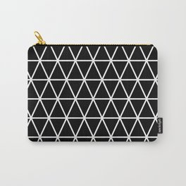 Triangle Black and White Pattern   Minimalism Carry-All Pouch