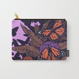 monarchs and milkweed Carry-All Pouch