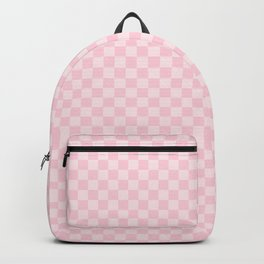 Light Soft Pastel Pink Checkerboard Chess Squares Backpack