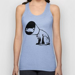 Cone of shame Unisex Tank Top